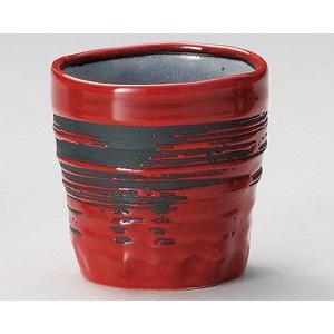 焼酎カップ・赤釉刷毛目|utuwayaissin