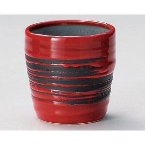 焼酎カップ・赤釉刷毛目ロックカップ utuwayaissin