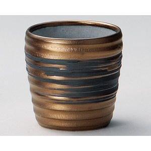 焼酎カップ・ゴールド刷毛目ロックカップ|utuwayaissin
