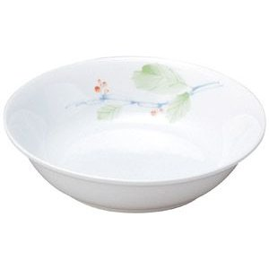 給食用食器 赤い実・16.2cm深皿(強化磁器)