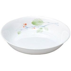 給食用食器 赤い実・19cm深皿(強化磁器)|utuwayaissin