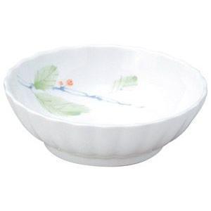 給食用食器 赤い実・11cm菊型浅鉢(強化磁器)|utuwayaissin