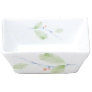 給食用食器 赤い実・10cm角鉢(強化磁器)|utuwayaissin