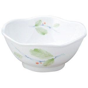 給食用食器 赤い実・11cm六山鉢(強化磁器)|utuwayaissin