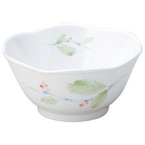 給食用食器 赤い実・12cm六山鉢(強化磁器)|utuwayaissin