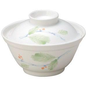 給食用食器 赤い実・12.2cm蓋付飯碗(強化磁器)