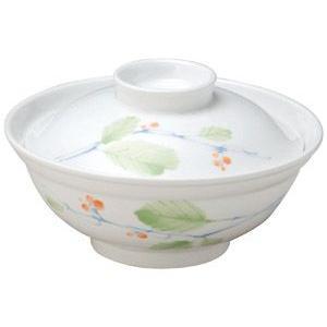 給食用食器 赤い実・14.8cm蓋付多用碗(強化磁器)