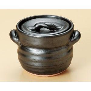 萬古焼 黒釉ご飯釜1合炊 炊飯土鍋|utuwayaissin