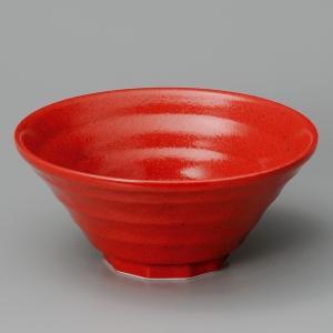 業務用ラーメンどんぶり赤柚子鳴門7.0反丼 21.5cm|utuwayaissin