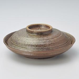 煮物碗・焼締 骨むし碗20.5cm|utuwayaissin