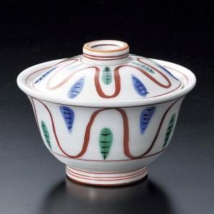 蓋付き煮物碗・手描赤絵十草煮物碗11.5cm|utuwayaissin