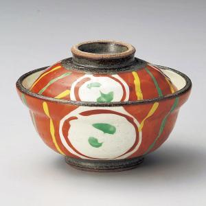 蓋付き煮物碗・赤絵丸紋小蓋向11cm|utuwayaissin