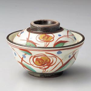蓋付き煮物碗・赤絵草紋小蓋向11cm|utuwayaissin