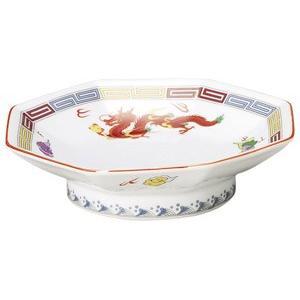 三色雷紋 八角高台皿(チャーハン皿)|utuwayaissin