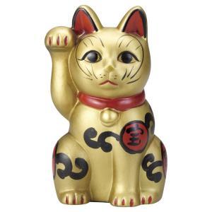 招き猫・古色吉祥維新猫 金5号(右手上げ)|utuwayaissin