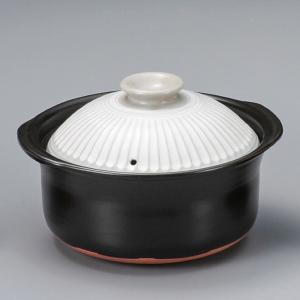 萬古焼 炊飯土鍋 銀峯菊花粉引 ご飯鍋3合炊(中蓋付)|utuwayaissin