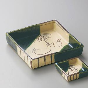 刺身鉢 織部つる花正角刺身鉢|utuwayaissin