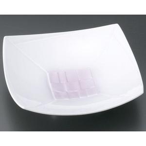 向付 ピンク吹正角6.0高台皿・業務用|utuwayaissin