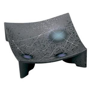黒マット線彫 正角皿(中)|utuwayaissin