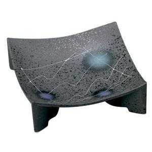 黒マット線彫 正角皿(小)|utuwayaissin
