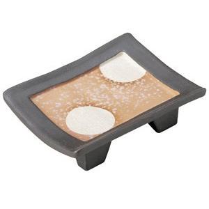 黒土萬月 高台5.0皿|utuwayaissin
