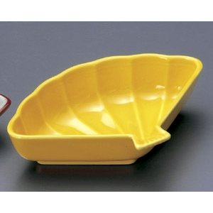 松花堂パーツ・黄釉 扇面小鉢|utuwayaissin