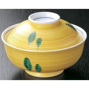 煮物碗・黄交趾グリーン水玉 蓋向付13.5cm|utuwayaissin