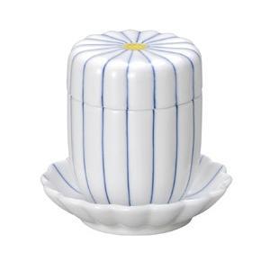 蒸し碗 細十草菊型むし碗・受皿付|utuwayaissin