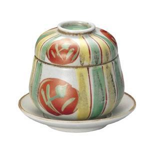 蒸し碗 十草赤丸紋だるまむし碗・受皿なし|utuwayaissin