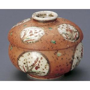蒸し碗 朱巻むさしの丸紋丸むし碗|utuwayaissin