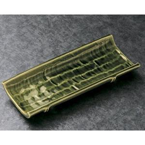 付出皿 織部竹節附出皿|utuwayaissin