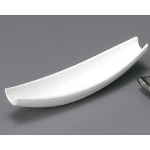 付出皿 白釉舟型前菜皿|utuwayaissin