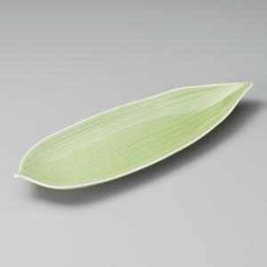 付出皿 グリーン笹形9.5前菜皿|utuwayaissin
