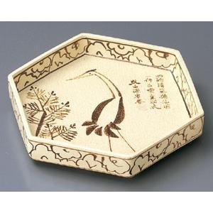 乾山鶴絵 六角皿(前菜皿)|utuwayaissin