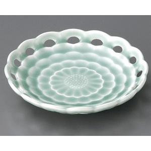 深海青磁 フルーツ皿|utuwayaissin