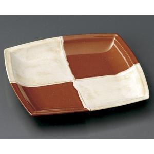 市松赤 角和皿|utuwayaissin