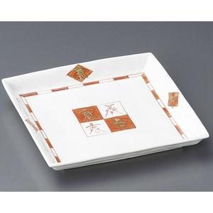 大皿 赤絵福来 角皿(業務用大皿)|utuwayaissin