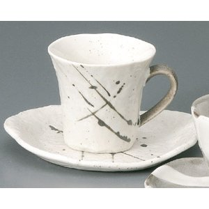 白唐津 コーヒー碗皿|utuwayaissin
