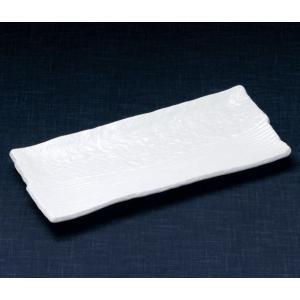 ホッケ皿(ほっけ皿)白楽32.5×15.5cm業務用|utuwayaissin