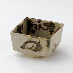 サビ織部流し角小鉢|utuwayaissin