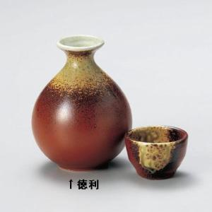 赤釉オリベ流し 玉徳利|utuwayaissin