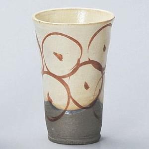 焼酎カップ(ビアーカップ) 粉引赤絵 utuwayaissin