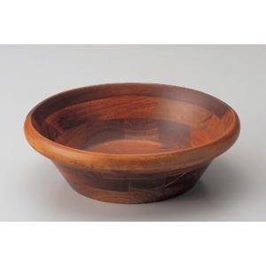 木製サラダボール・ブラウン22.5cm|utuwayaissin