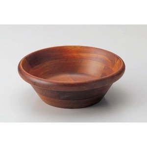 木製サラダボール・ブラウン20.5cm|utuwayaissin
