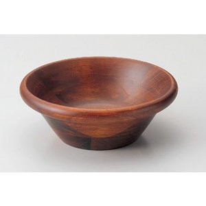 木製サラダボール・ブラウン17.5cm|utuwayaissin