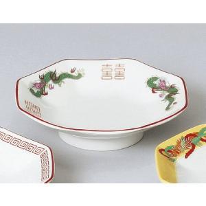 三ツ竜八角高台皿(チャーハン皿)|utuwayaissin