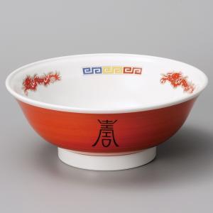 業務用ラーメンどんぶり 赤巻三色雷門7.5高台丼・24.3cm|utuwayaissin