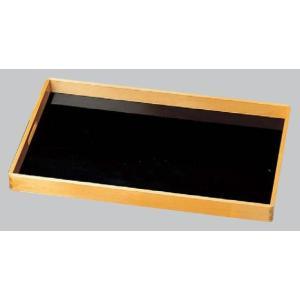 木製脇取盆(運び盆)黒目はじき渕白木 尺9|utuwayaissin