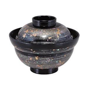 蓋付き丼・4.6寸かがみ丼 銀光彩ぼかし内黒(ハーフサイズ)|utuwayaissin