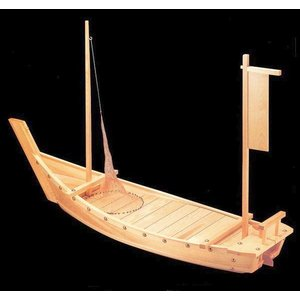 木製舟盛り器 大和大漁舟(網付)5尺|utuwayaissin